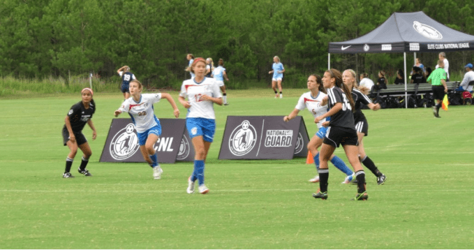 ECNL Event Girls Playing